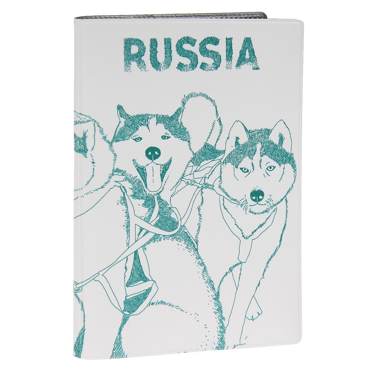 Обложка для паспорта Сибирские хаски. OZAM296OZAM296Обложка для паспорта Mitya Veselkov Хаски выполнена из прочного ПВХ и оформлена изображением нескольких собак породы хаски. Такая обложка не только поможет сохранить внешний вид ваших документов и защитит их от повреждений, но и станет стильным аксессуаром, идеально подходящим вашему образу.Яркая и оригинальная обложка подчеркнет вашу индивидуальность и изысканный вкус. Обложка для паспорта стильного дизайна может быть достойным и оригинальным подарком.