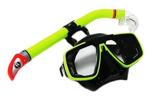 Набор для подводного плавания Technisub (маска Look + трубка Mach Dry), салатовый technisub flexus dry