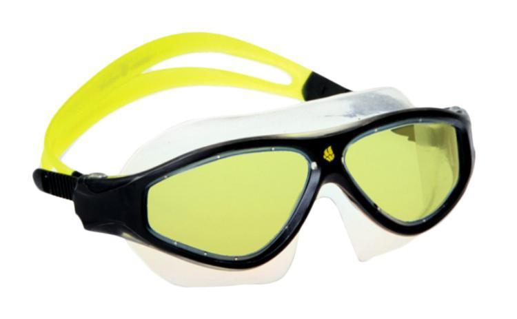 Маска для плавания MadWave Flame Mask, цвет: желтый, черныйM0461 02 0 06WМаска для водных видов спорта с автоматической системой регулировки ремешков на корпусе. Закрывает чувствительную зону вокруг глаз. Улучшенная антизапотевающая защита стекла благодаря внедрению антифога капиллярным способом. Защита от ультрофиолетовых лучей UV 400. Целлюлозополимерные линзы. Вид переносицы — моноблок. Рамка — полипропилен, обтюратор — термопластичная резина. Силиконовый ремешок. Комплектация:Маска.Чехол. Характеристики: Материал: силикон, поликарбонат, резина. Размер маски: 17,5 см х 6,5 см. Цвет: желтый, черный. Размер упаковки: 20 см х 8 см х 6 см. Артикул: M0461 02 0 06W.