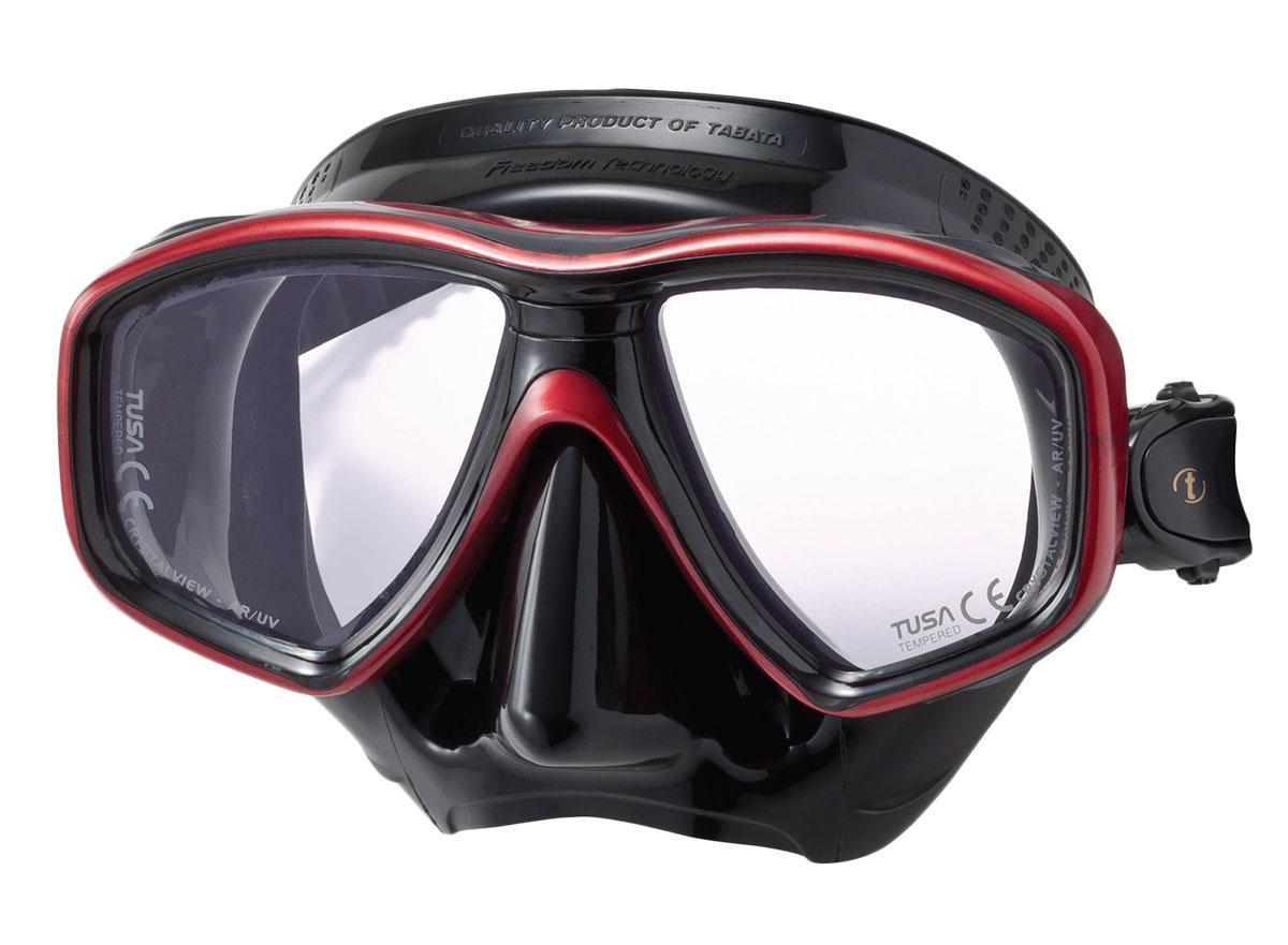 Маска для плавания Tusa  Freedom Ceos Pro , цвет: черный, красный - Дайвинг