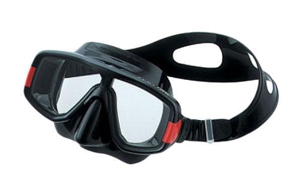 Маска для плавания Tusa Platina, цвет: черный, красный