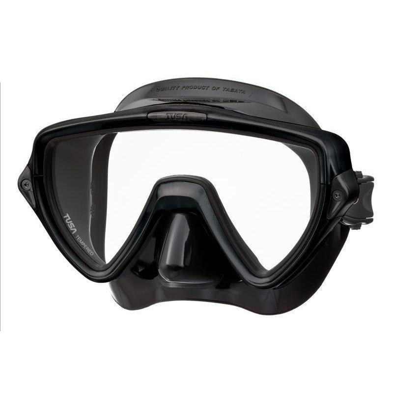 Маска для плавания Tusa Visio Uno, цвет: черный маска для плавания tusa visio pro цвет черный хромированный
