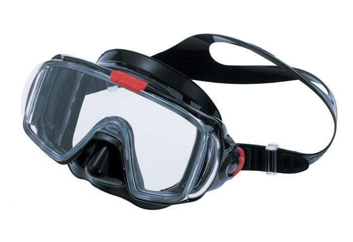Маска для плавания Tusa Visio Tri-Ex, цвет: черный, красный маска для плавания tusa visio pro цвет черный хромированный