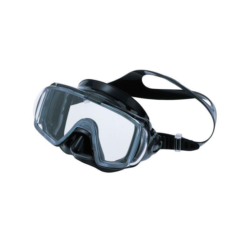 Маска для плавания Tusa Visio Tri-Ex, цвет: черный маска для плавания tusa visio pro цвет черный хромированный