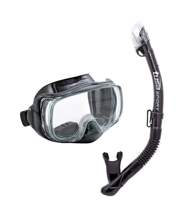 Комплект для плавания Tusa Sport UCR3325 BK/BK, (маска+трубка), цвет: черный