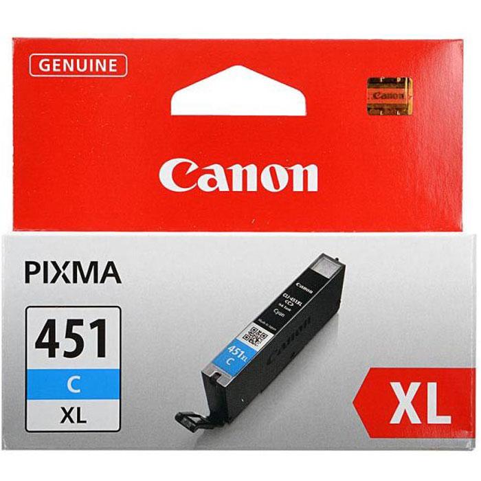 Canon CLI-451 C XL картридж для струйных принтеров6473B001Картридж повышенной емкости Canon CLI-451 XL с чернилами для струйных принтеров Canon PIXMA.