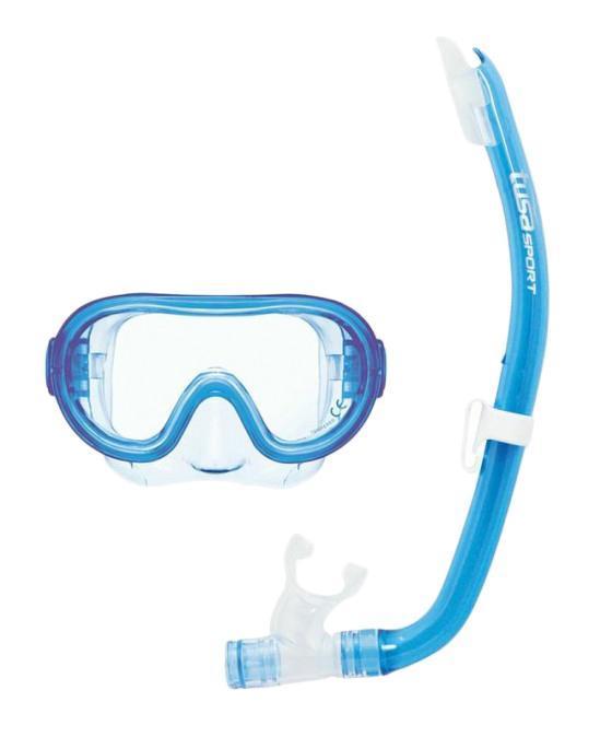 Комплект детский для плавания Tusa Sport UCR1214 CLB, (маска+трубка), цвет: голубой недорго, оригинальная цена