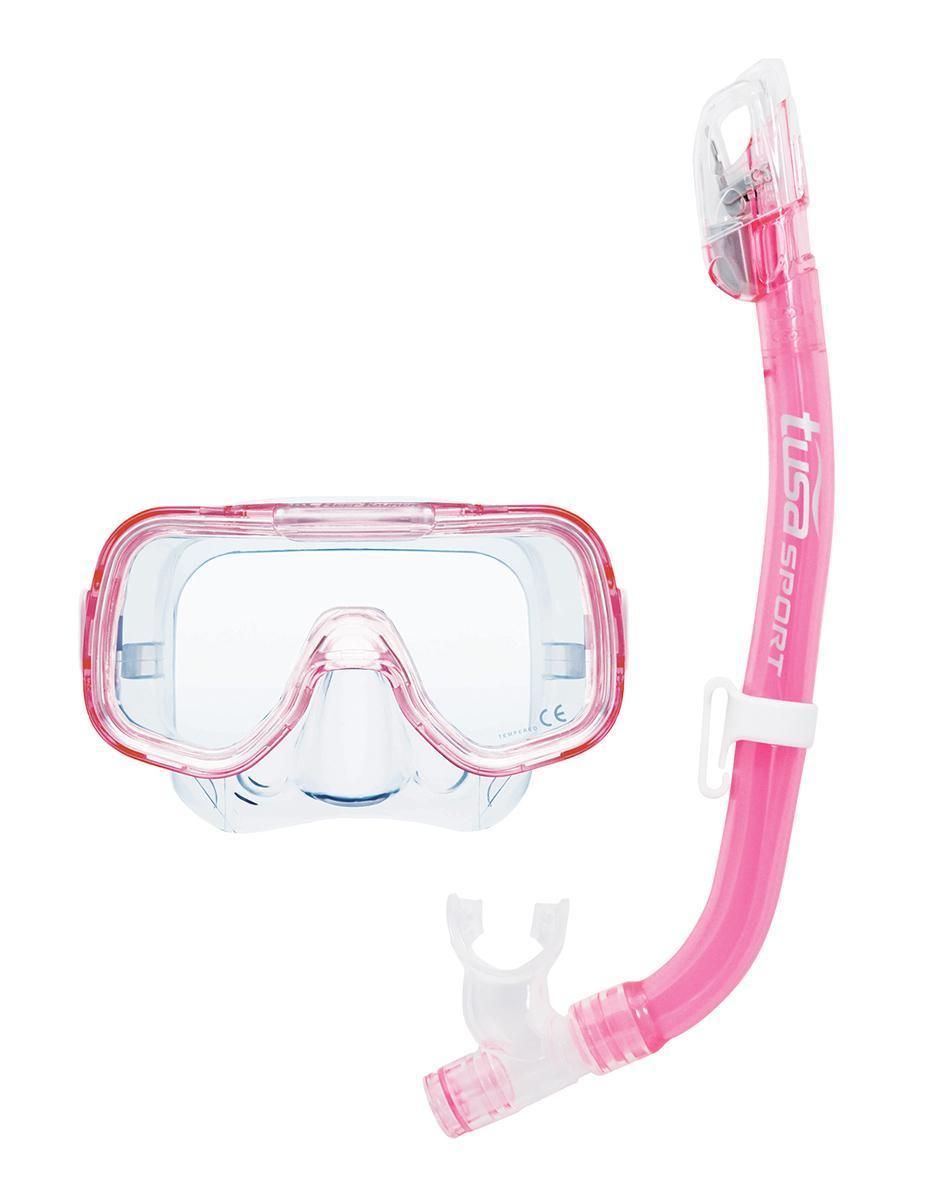"""Комплект для плавания детский TUSA Sport (маска+трубка) """"TS UC2022 CLP"""", цвет: розовый"""
