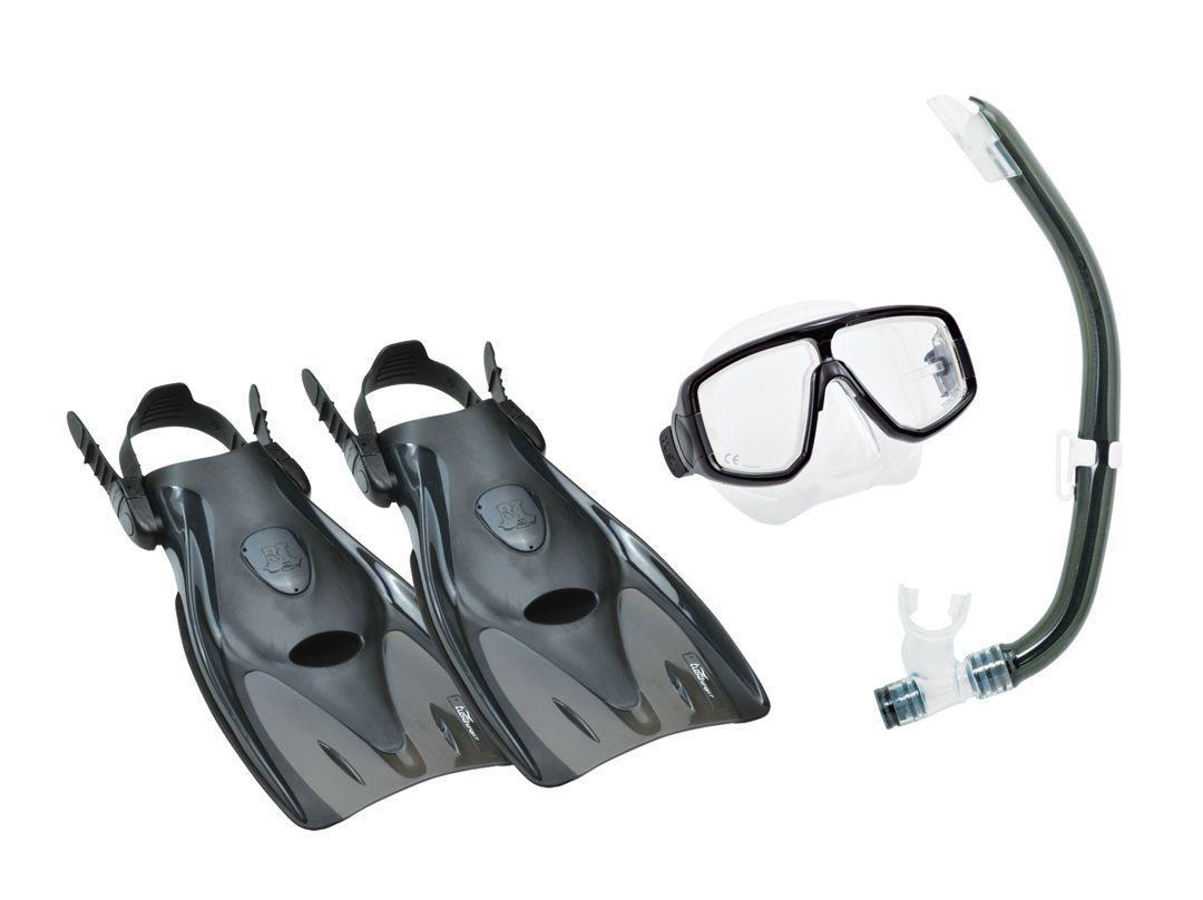 Комплект для плавания Tusa Sport (маска+трубка+ласты) TS UPR2614 BKBK, цвет: черный/черный, размер М (36 -42)TS UCR2022 CGRКомплект для путешествийPlatina Hyperdryвключает двухлинзовую маску с увеличенным полем зрения, регулируемым ремешком с пряжками, линзами из закаленного стекла ClearVu, ремешком и обтюратором из гипоаллергенного силикона. Хорошо садиться на узкие и средние лица. Возможно установить диоптрические линзы (приобретаются отдельно).Трубка оснащена запатентованной технологией TUSA Hyperdry, защищающей трубку от попадания воды, дренажной камерой и стравливающим клапаном для легкой очистки трубки от воды, а гофрированный сегмент и загубник выполнены из прозрачного гипоаллергенного силикона..Ласты разработаны специально для путешествий, а удобная калоша выполнена из мягкого, но прочного материала. Открытая пятка позволяет легко и быстро подгонять ласты по размеру, а прочный силиконовый ремешок обеспечивает комфорт. Эта модель ласт, несмотря на компактный размер, отличается прочностью и обеспечивает большую мощность гребка. Ласты компактны, имеют небольшой вес и идеально подходят для путешествий.Комплект поставляется со специальной сумочкой для перевозки. Характеристики:Материал: пластик, силикон, стекло, резина. Размер маски: 15 см x 10 см. Размер ласт: 36-42. Размеры ласт(ДхШ): 34 см х 16,5 см. Общая длина трубки: 38 см. Размер упаковки: 40 см x 20,5 см x 13,5 см. Производитель: Тайвань. Артикул:TS UPR2614 BL.