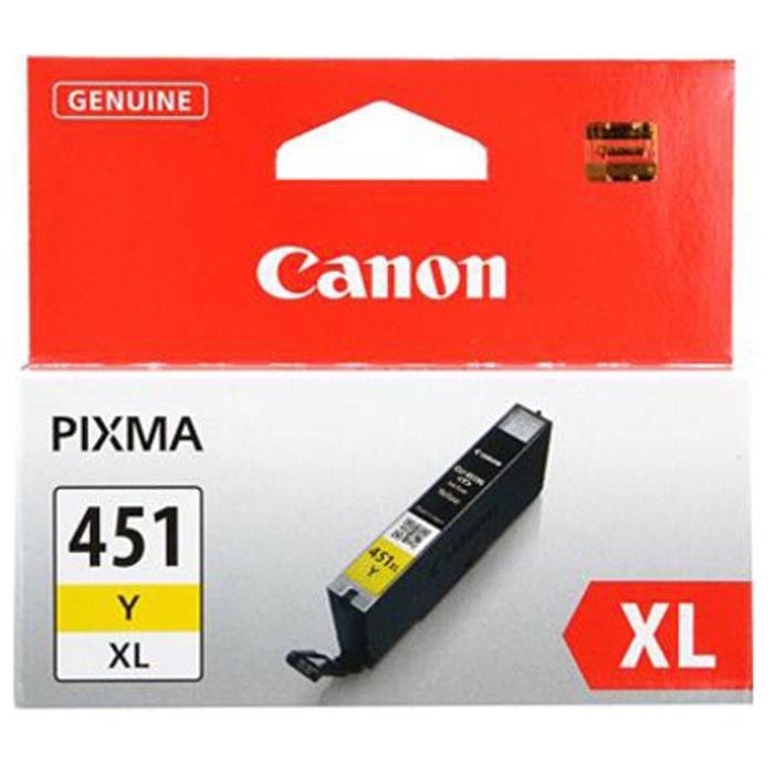 Canon CLI-451 Y XL картридж для струйных принтеров6475B001Картридж повышенной емкости Canon CLI-451 XL с чернилами для струйных принтеров Canon PIXMA.