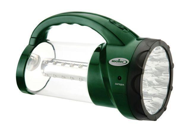Фонарь-светильник светодиодный КОСМОС AP2008L-LEDKOCAP2008L-LEDИнновационный фонарь двойного назначения. Конструкция объединяет в себе как обычный фонарь - прожектор, так и полноценный кемпинговый фонарь. Так же оснащен выдвижным крючком для комфортного подвешивания. Комплектация: - кемпинговый фонарь-прожектор с 19 светодиодами в головной части фонаря, 24 LED элементов в боковой части фонаря, укомплектован свинцово-кислотным аккумулятором 4V 2Ah; - сетевой шнур 220V; - инструкция по эксплуатации и обслуживанию на русском языке. Материал: пластик; цвет: зеленый темный; размер (см): 16,5 х 12,2 х 23,6