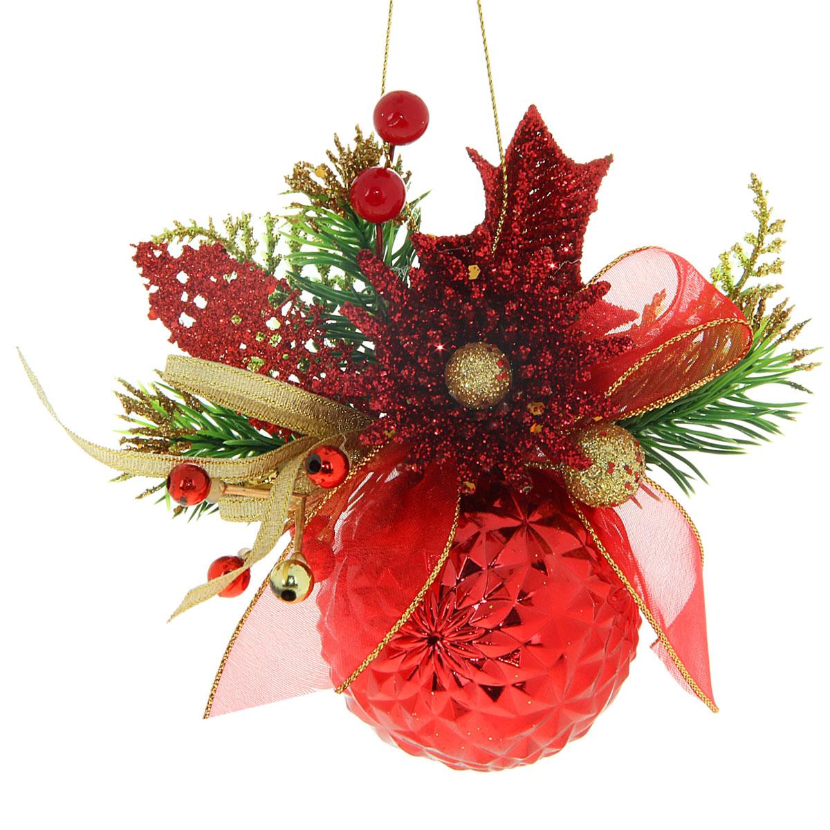 Новогодний декорированный шар Красная астра с бусинами, диаметр 6 см, 706001706001Новогодний шар, выполненный из пластика, украсит интерьер вашего дома или офиса в преддверии Нового года. Оригинальный дизайн и красочное исполнение создадут праздничное настроение. Новогодние украшения всегда несут в себе волшебство и красоту праздника. Создайте в своем доме атмосферу тепла, веселья и радости, украшая его всей семьей.