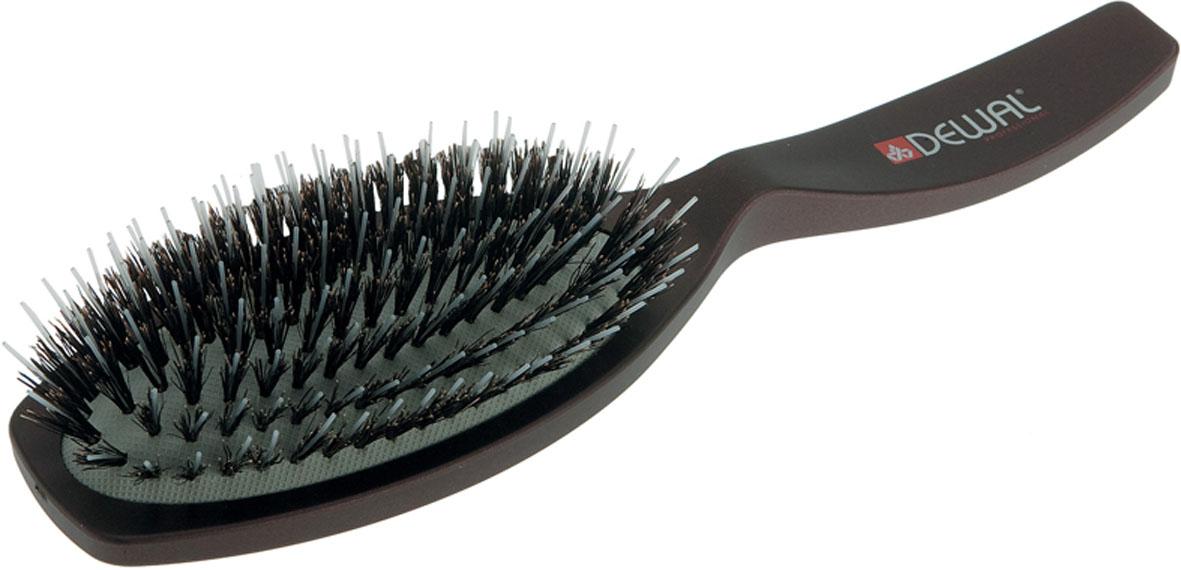 Dewal Расческа массажная Coffee с натуральной щетиной и пластиковыми зубцами. BR6302BR6302В ассортименте торговой марки Dewal (Деваль) имеются расчески на все случаи жизни, с помощью которых можно выполнять стрижки, укладки, модельные причёски и другие манипуляции с волосами. Вообще расческа для волос считается для парикмахера самым простым, но при этом незаменимым инструментом. Массажная щетка с натуральной щетиной и пластиковыми штифтами идеальна для расчесывания любых волос и массажа кожи головы. Продуманная конструкция, эргономичный дизайн обеспечивают комфортную работу парикмахера. Расчёски с лёгкостью скользят по волосам, удобно ложатся в руку. Товар сертифицирован.