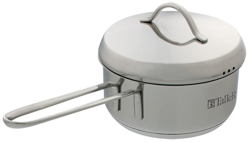 """Яйцеварка Taller """"Camille"""" изготовлена из высококачественной нержавеющей стали. Зеркальная полировка изделия придает приятный внешний вид. Яйцеварка оснащена удобной ручкой на сварке, которая изготовлена из нержавеющей стали. Такая ручка надежно крепится к корпусу посуды. На внутренней поверхности изделия имеются удобные отметки литража. Капсулированное дно с алюминиевой вставкой обеспечивает идеальное распределение тепла.Яйцеварка Taller """"Camille"""" подходит для использования на всех типах плит, включая индукционные, а также в духовом шкафу. Пригодна для мытья в посудомоечной машине."""