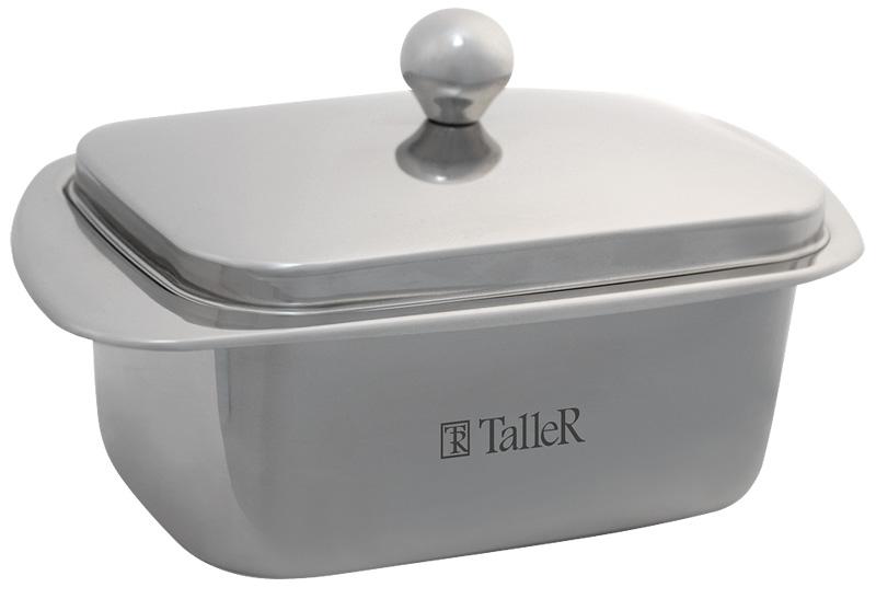 Масленка Taller Kimberley, 500 гTR-1215Масленка Taller Kimberley идеально подходит для хранения масла и сервировки стола. Масленка выполнена из нержавеющей стали с внешней зеркальной полировкой и состоит из подноса и крышки с ручкой. Благодаря специальным выемкам крышка плотно устанавливается на поднос.Современный изысканный дизайн создаст безупречный стиль для вашей кухни. Масло в такой масленке долго остается свежим, а при хранении в холодильнике не впитывает посторонние запахи. Можно мыть в посудомоечной машине.