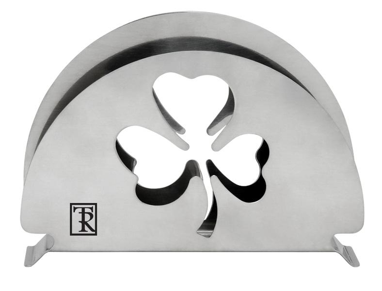 """Салфетница Taller """"Clovery"""", выполненная из высококачественной нержавеющей стали 18/10, декорирована перфорацией в виде листа клевера.  Салфетница придется по вкусу и ценителям классики, и тем, кто предпочитает яркий современный дизайн. Она станет отличным подарком для друзей и близких.   Можно мыть в посудомоечной машине."""