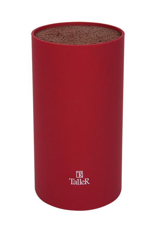 Подставка для ножей Taller, цвет: красный, высота 22 смTR-2511