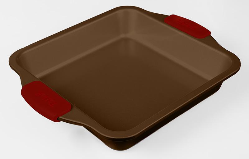 Форма для выпечки Taller, квадратная, с антипригарным покрытием, цвет: коричневый, 25 х 25 смTR-6304Квадратная форма для выпечки Taller выполнена из углеродистой стали с усиленным антипригарным покрытием Quantum 2 из керамических материалов, благодаря чему пища не пригорает и прилипает к стенкам посуды. Кроме того, готовить можно с добавлением минимального количества масла и жиров. Антипригарное покрытие также обеспечивает легкость мытья. Удобные силиконовые ручки позволяют надежно удерживать горячую посуду.Глубокая квадратная форма идеальна для приготовления выпечки.Подходит для использования в духовом шкафу.Размер формы: 25 см х 25 см х 5 см.