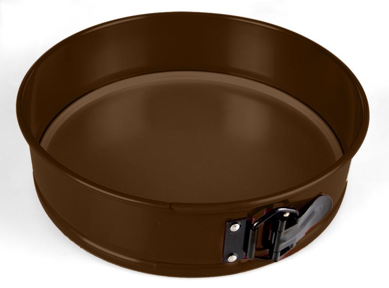 Форма для выпечки из углеродистой стали с антипригарным покрытием круглая разъемная. Диаметр 26,5 см.