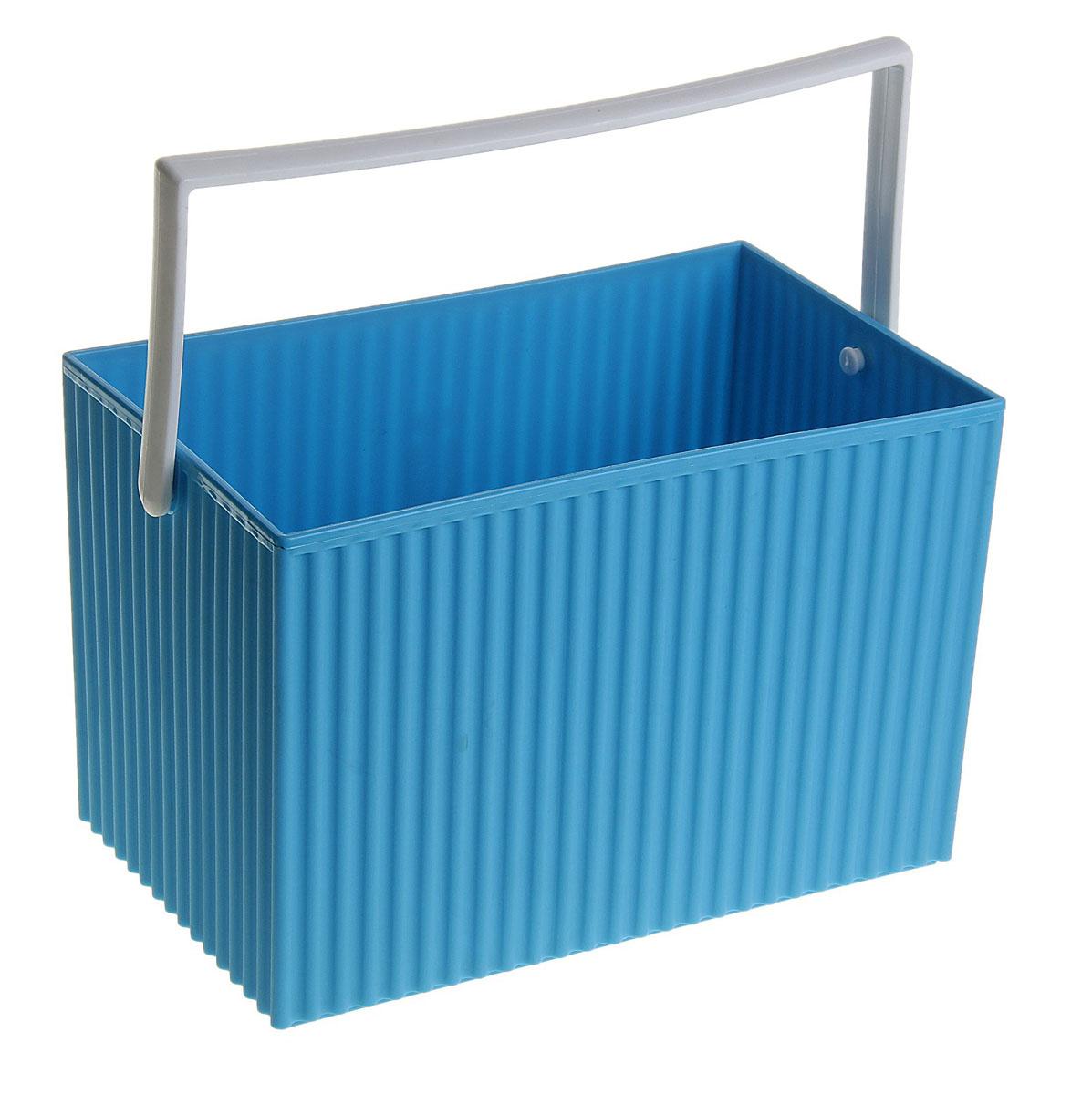 Ящик для бытовых вещей Sima-land, с ручкой, цвет: синий147455Ящик Sima-land изготовлен из высококачественного пластика. Ящик предназначен для хранения различных бытовых мелочей. Ящик имеет ручку, благодаря которой ящик можно без проблем переносить с места на место. Ящик для бытовых вещей Sima-land поможет содержать ваши вещи в порядке. Размер ящика: 22 см х 13,5 см х 15 см.