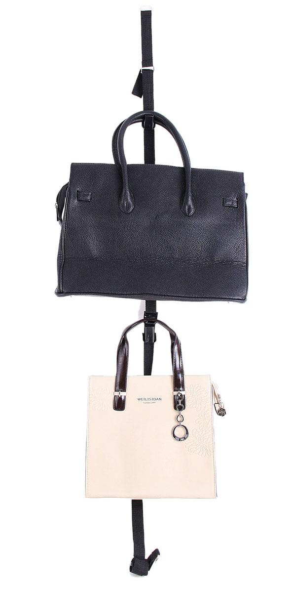 Органайзер для хранения сумок Sima-land, цвет: черный, 14 крючков642654Органайзер Sima-land, изготовленный из текстиля, предназначен для хранения сумок. Изделие представляет собой 2 прочные, регулируемые по длине тесьмы, которые крепятся с помощью металлических креплений к двери. Каждая тесьма снабжена 7 пластиковыми крючками для подвешивания сумок.