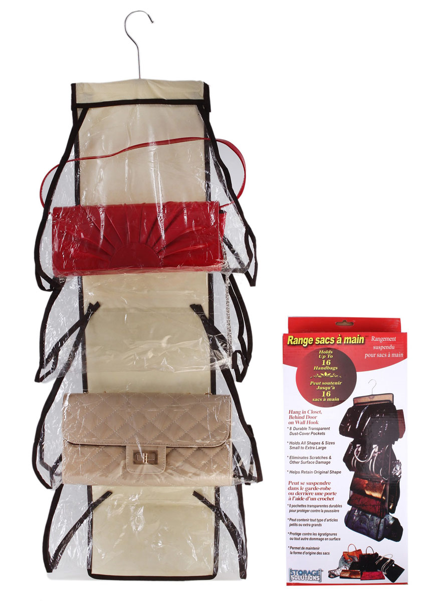 Органайзер для сумок Sima-land с вешалкой, цвет: бежевый, 8 отделений кармашки на стену для бани sima land банные мелочи цвет белый 3 шт