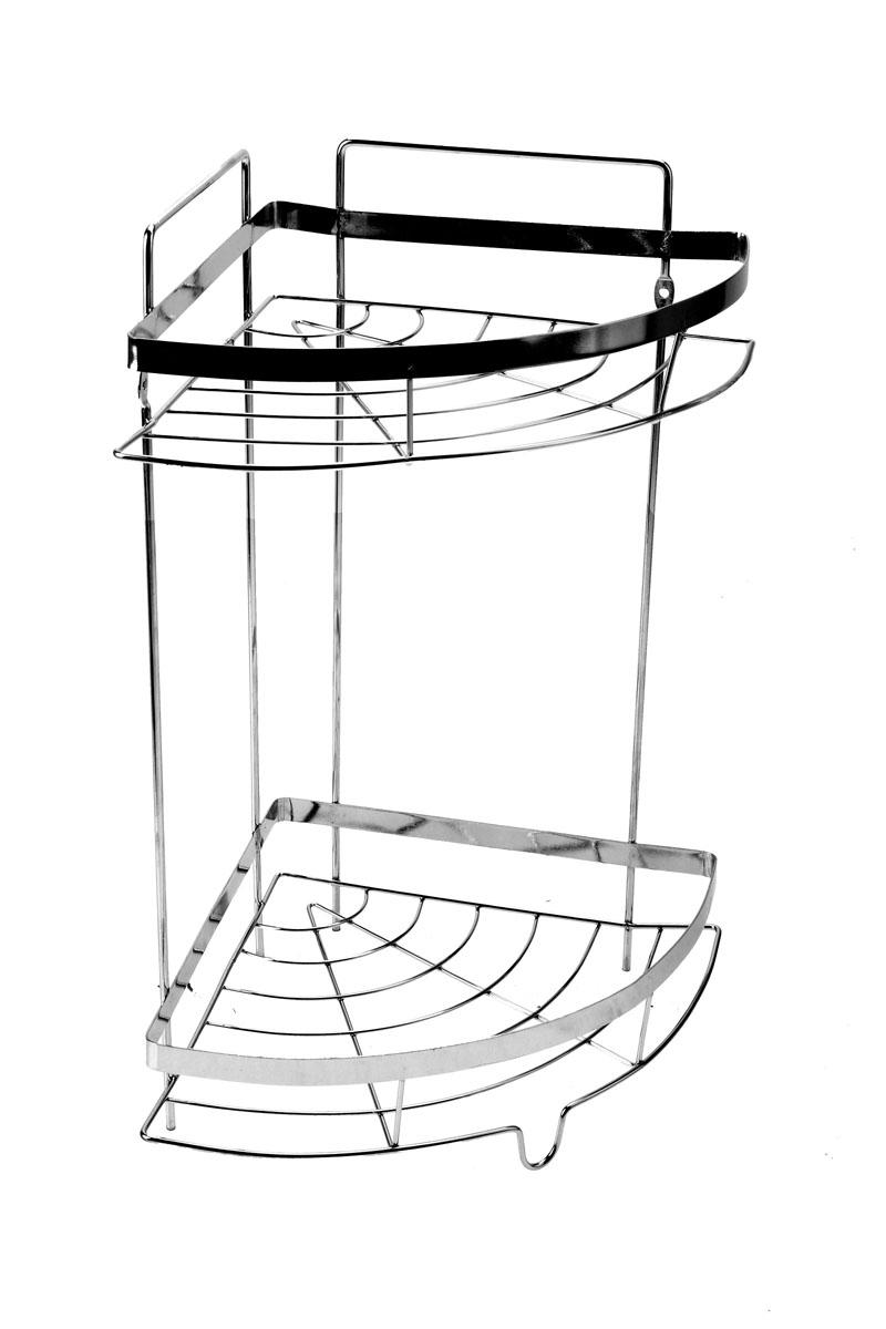 Полка угловая Доляна, 2-х ярусная, высота 35 см полка подвесная vanstore neo 2 ярусная высота 32 см