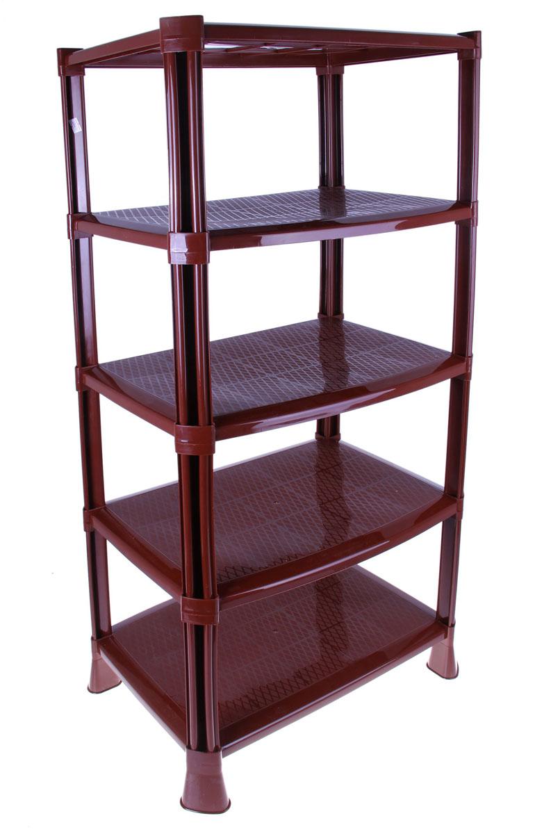 Этажерка для обуви, 5 ярусов, цвет: коричневый, 51 х 35 х 100,8 см696650Этажерка для обуви с 5 полками выполнена из высококачественного пластика и предназначена для хранения обуви в прихожей. Оптимальный размер изделия позволяет устанавливать этажерку как в коридоре, так и в шкафу-купе. Может использоваться для хранения в кладовых и лоджиях. На каждой полке можно разместить по две пары обуви. В комплект входит ложечка для обуви, крючки и специальная подставка с поддоном для зонтов.Очень удобная и компактная, но в тоже время вместительная, этажерка прекрасно впишется в пространство вашей прихожей. Компактный размер подходит даже для небольших прихожих. Легко собирается и разбирается. Размер этажерки (ДхШхВ): 51 см х 35 см х 100,8 см.