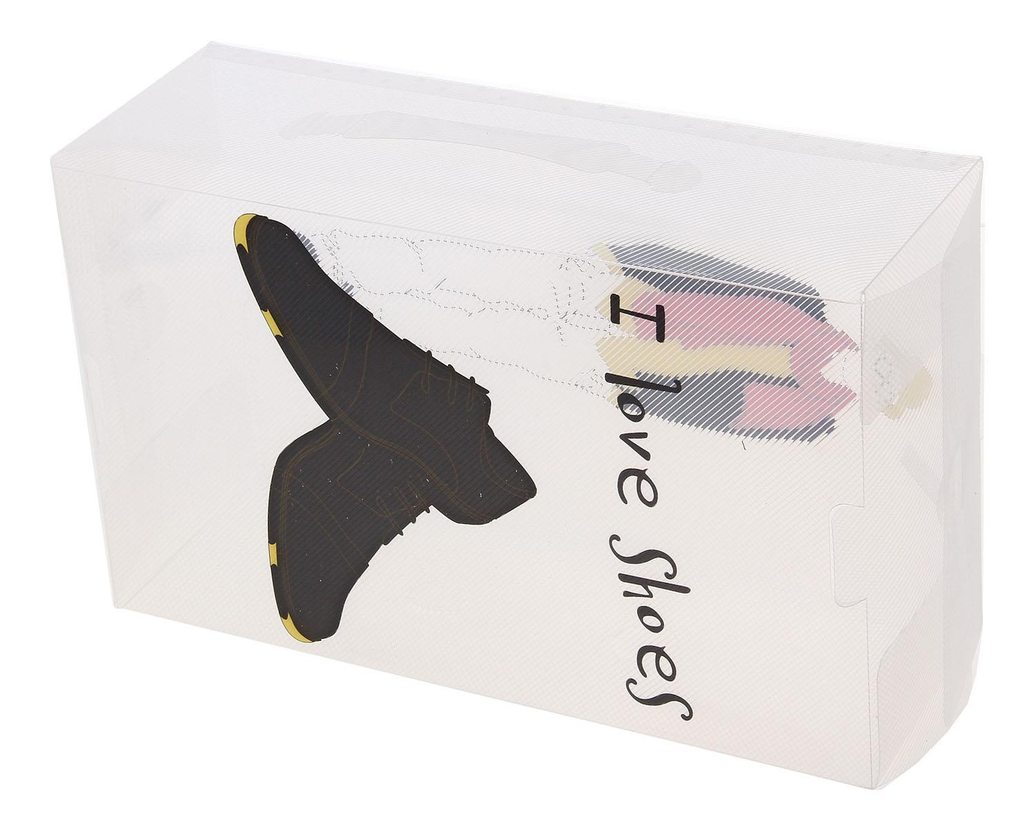 Короб для хранения обуви Sima-land Джентльмен, с ручкой, 33 см х 20 см х 12 см709939Короб для хранения обуви Sima-land Джентльмен изготовлен из высококачественного пластика. Короб украшен двусторонней картинкой.Предназначен короб для хранения обуви. Короб защищает обувь от пыли и царапин. Благодаря полупрозрачной конструкции вы всегда сможете узнать, что находится внутри, а, значит, при необходимости найти нужную пару. Короба можно укладывать несколько рядов, за счет жёсткости конструкции обеспечивающей экономию места и полный порядок в шкафу и гардеробной. Наличие отверстий в коробе, обеспечит вентиляцию обуви. Для удобной транспортировки короб имеет ручку. Короб Sima-land Джентльмен обеспечит безопасное хранение вашей обуви. Размер короба: 33 см х 20 см х 12 см.