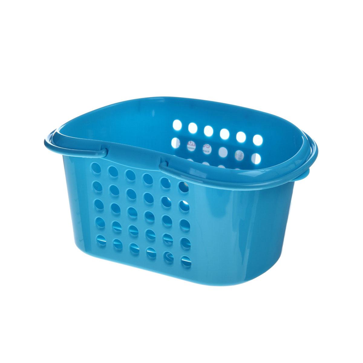 Корзинка универсальная Бытпласт, с ручками, цвет: голубой, 23 х 17,5 х 11,5 см847544Универсальная корзинка Бытпласт изготовлена из высококачественного пластика и предназначена для хранения и транспортировки вещей. Корзинка подойдет как для пищевых продуктов, так и для ванных принадлежностей и различных мелочей. Изделие оснащено двумя ручками для более удобной транспортировки. Основание и стенки корзинки оформлены перфорацией. Универсальная корзинка Бытпласт позволит вам хранить вещи компактно и с удобством.