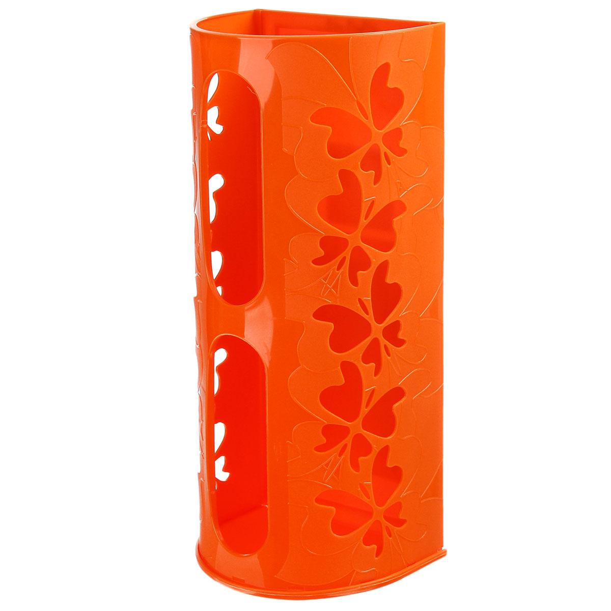 Корзина для пакетов Berossi Fly, цвет: оранжевый868660Корзина для пакетов Berossi Fly, изготовлена из высококачественного пластика. Эта практичная корзина наведет порядок в кладовке или кухонном шкафу ипозволит хранить пластиковые пакеты или хозяйственные сумочки во всегдадоступном месте! Изделие декорировано резным изображением бабочек. Корзина просто подвешивается на дверь шкафчика изнутри или снаружи, в зависимости от назначения.Корзина для пакетов Berossi Fly будет замечательным подарком для поддержания чистоты и порядка. Она сэкономит место, гармонично впишется в интерьер и будет радовать вас уникальным дизайном.