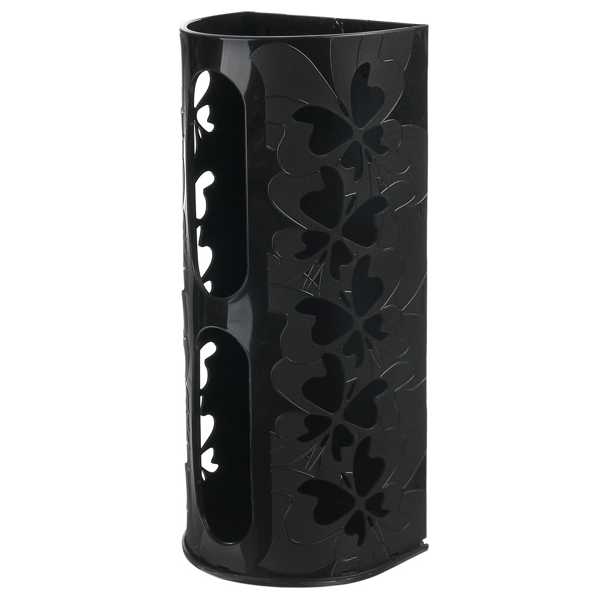 Корзина для пакетов Berossi Fly, цвет: черный868663Корзина для пакетов Berossi Fly, изготовлена из высококачественного пластика. Эта практичная корзина наведет порядок в кладовке или кухонном шкафу и позволит хранить пластиковые пакеты или хозяйственные сумочки во всегда доступном месте! Изделие декорировано резным изображением бабочек. Корзина просто подвешивается на дверь шкафчика изнутри или снаружи, в зависимости от назначения. Корзина для пакетов Berossi Fly будет замечательным подарком для поддержания чистоты и порядка. Она сэкономит место, гармонично впишется в интерьер и будет радовать вас уникальным дизайном.Размер корзины (в собранном виде): 37 х 13 х 16 см.