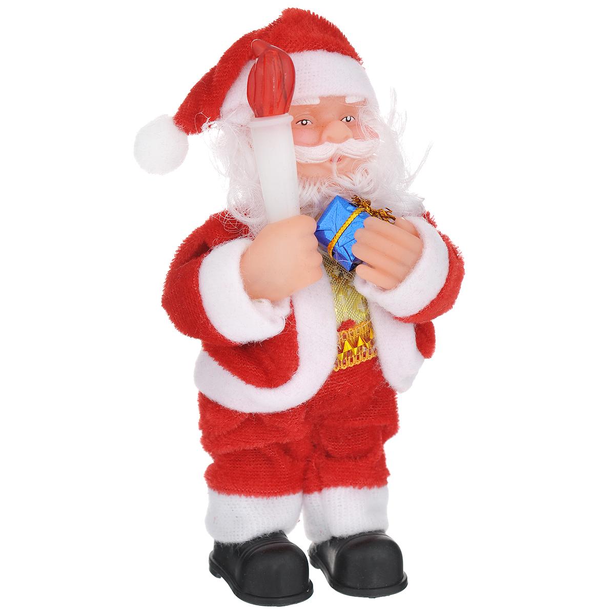 Новогодняя декоративная фигурка Sima-land Дед Мороз, высота 16 см. 703369 фигурка декоративная house & holder дед мороз с подсветкой высота 9 см