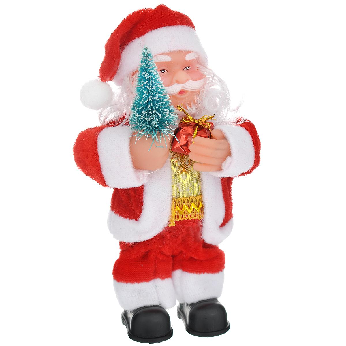 Новогодняя декоративная фигурка Sima-land Дед Мороз, высота 16 см. 703370703370Новогодняя декоративная фигурка выполнена из высококачественного пластика в виде Деда Мороза. Дед Мороз одет в шубу с опушкой. На голове колпак в цвет шубы. В одной руке Дед Мороз держит подарок, а в другой - елочку. Его добрый вид и очаровательная улыбка притягивают к себе восторженные взгляды. Декоративная фигурка Дед Мороз подойдет для оформления новогоднего интерьера и принесет с собой атмосферу радости и веселья.