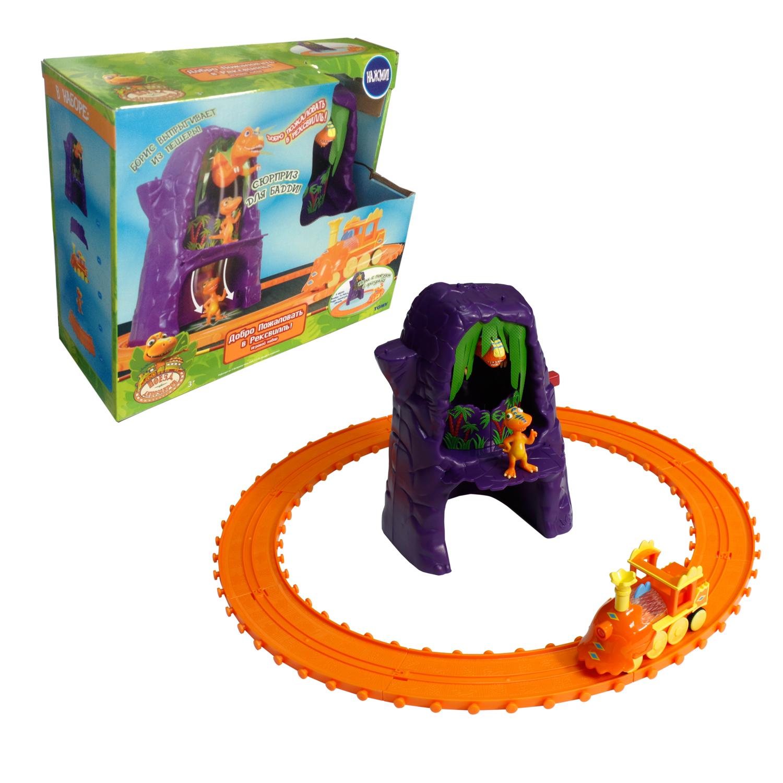 Игровой набор Tomy Поезд Динозавров: Добро пожаловать в Рексвилль игровые наборы tomy игровой набор приключения трактора джонни и лошади на ферме