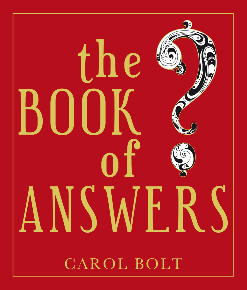 The Book of Answers who thought this was a good idea and other questions you should have answers to when you work in the white house