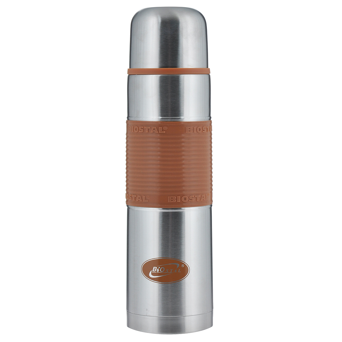 """Термос с узким горлом BIOSTAL """"Fler"""", изготовленный из высококачественной нержавеющей стали, относится к классической серии. Термосы этой серии, являющейся лидером продаж, просты в использовании, экономичны и многофункциональны. Термос предназначен для хранения горячих и холодных напитков (чая, кофе) и укомплектован пробкой с кнопкой. Такая пробка удобна в использовании и позволяет, не отвинчивая ее, наливать напитки после простого нажатия. Изделие также оснащено крышкой-чашкой и удобной цветной силиконовой вставкой. Легкий и прочный термос BIOSTAL """"Fler"""" сохранит ваши напитки горячими или холодными надолго."""