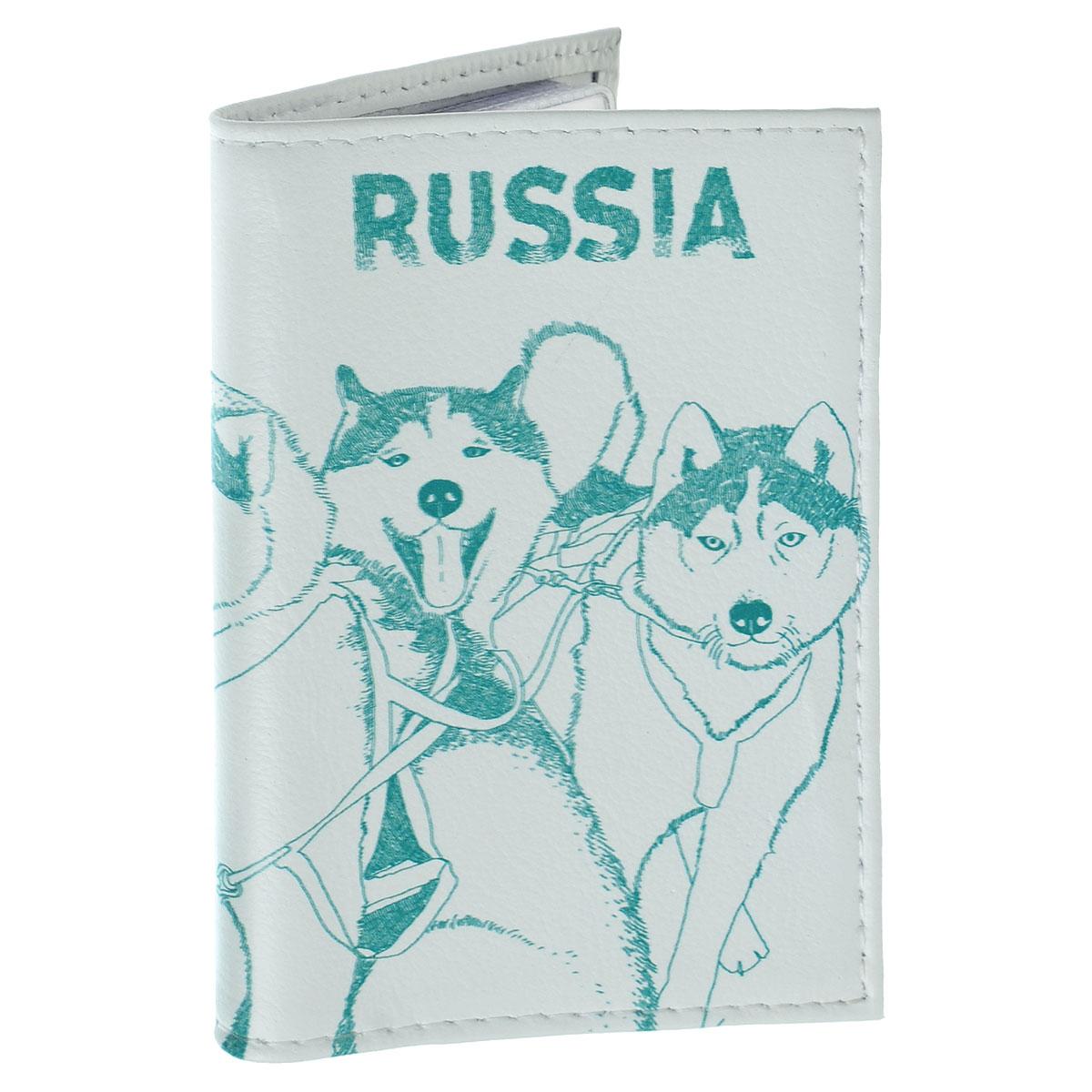 Обложка для автодокументов Сибирские хаски. AUTO295