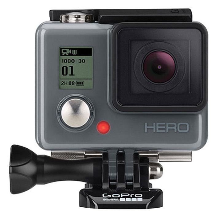 GoPro Hero экшн-камера (CHDHA-301)CHDHA-301Если вы планируете начать свое удивительное приключение в создании невероятных захватывающих фотографий и видеокадров, обратите внимание на камеру HERO - лучшую для начинающих. Расскажите о самых захватывающих моментах жизни и делитесь ими со всем миром! С камерой HERO - это просто. Благодаря высококачественному разрешению фото и видео, а также ультра широкому углу объектива, ваша GoPro без труда создаст трехмерные фото и видеокадры. Камера настолько легкая и миниатюрная, насколько это может быть возможным. Пригодная для носки, она помещается не только в вашей ладони, но и фиксируется даже на спортивной экипировке или иных элементах одежды. Облаченная в прочный водонепроницаемый корпус, камера может быть использована на глубине до 40 метров для поклонников подводных видов спорта. Длительная работа аккумулятора обеспечивает бесперебойную съемку до 2,5 часов во время любой активной деятельности. Поддерживает микро SD карты до 32 ГБ, позволяя запечатлеть и сохранить большой объем самых лучших кадров. Сочетаемая со многими аксессуарами и креплениями GoPro, HERO помогает создавать вам настолько необычные, яркие фото и видеокадры, что вы чувствуете себя именно так: героем.
