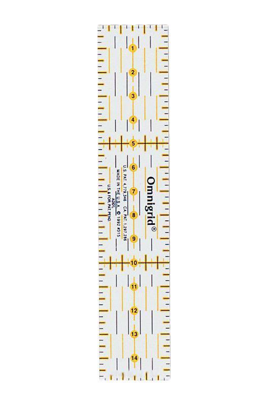 Линейка универсальная Prym для пэчворка, с сантиметровой шкалой, 15 см