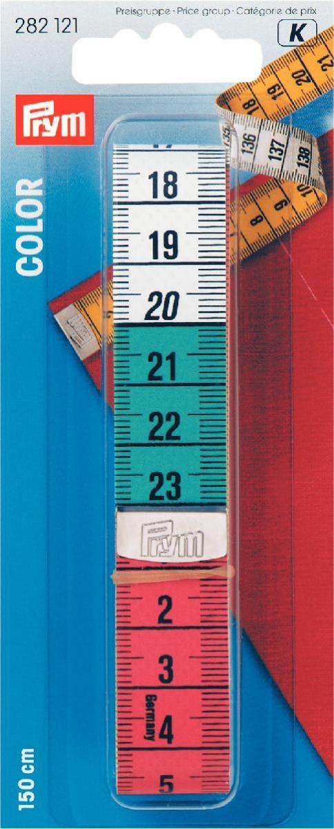 Лента измерительная Prym, длина 150 см линейка универсальная prym для пэчворка с сантиметровой шкалой 30 см