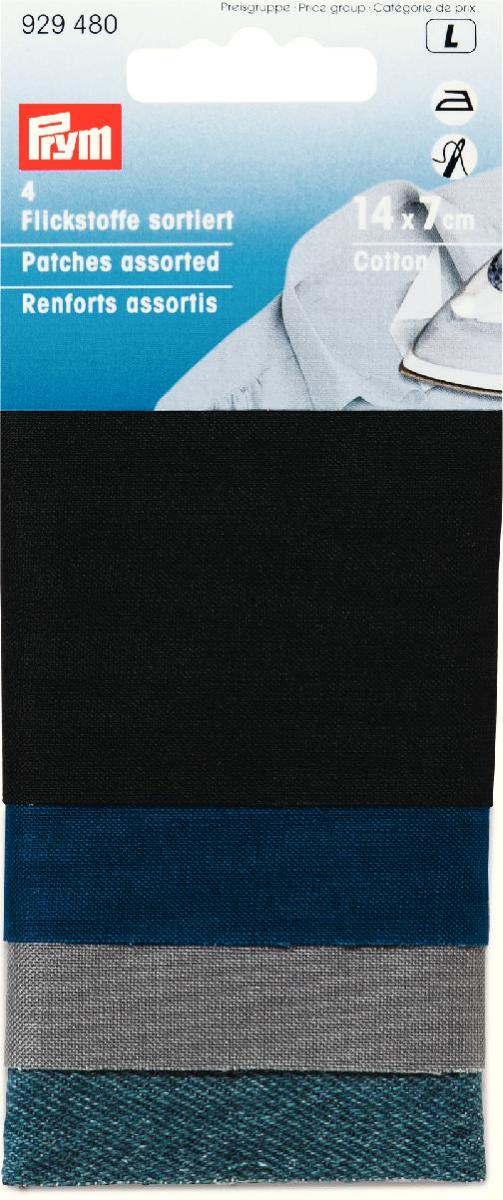 Набор тканей для заплаток Prym, 14 см х 7 см, 4 шт929480Набор Prym - это комплект высококачественных тканей, предназначенный для заделывания порванных мест и дыр на текстильных вещах. Набор состоит из 4 разноцветных кусочков ткани размером 14 см х 7 см, изготовленные из хлопка, которые прикрепляются путем воздействия горячего утюга или пришиванием.УВАЖАЕМЫЕ КЛИЕНТЫ! Обращаем ваше внимание на то, что товар представлен в ассортименте. Размер: 14 см х 7 см.