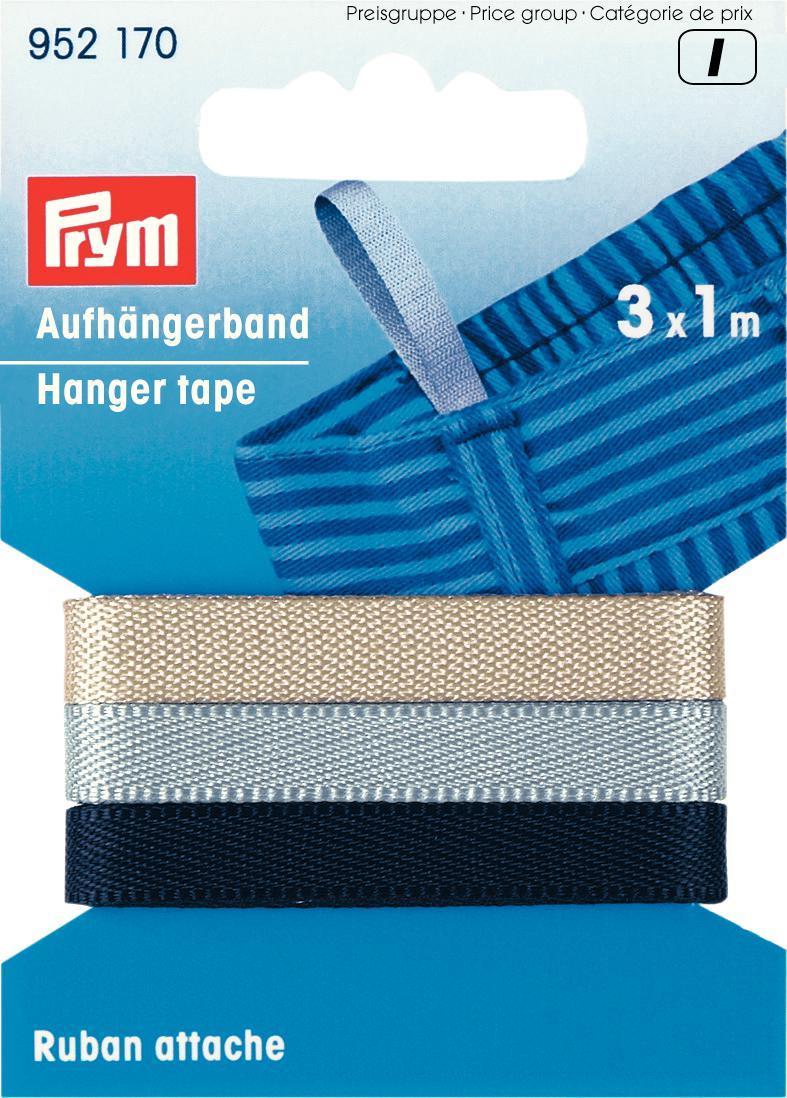 Лента для вешалок Prym, цвет: черный, серый, бежевый, 5 мм, 1 м, 3 шт