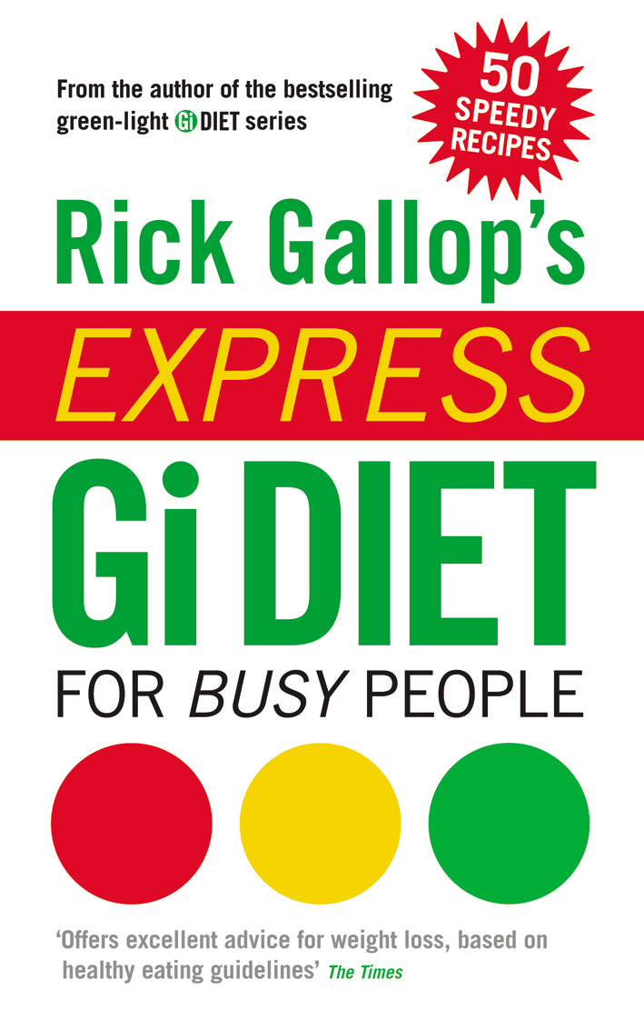 Rick Gallop's Express GI Diet for Busy People gallop rick the gi diet shopping and eating out pocket guide