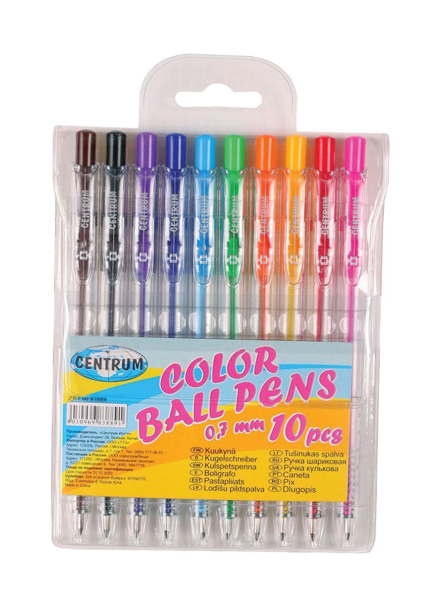Centrum Набор шариковых цветных ручек 10 шт набор шариковых ручек автоматическая