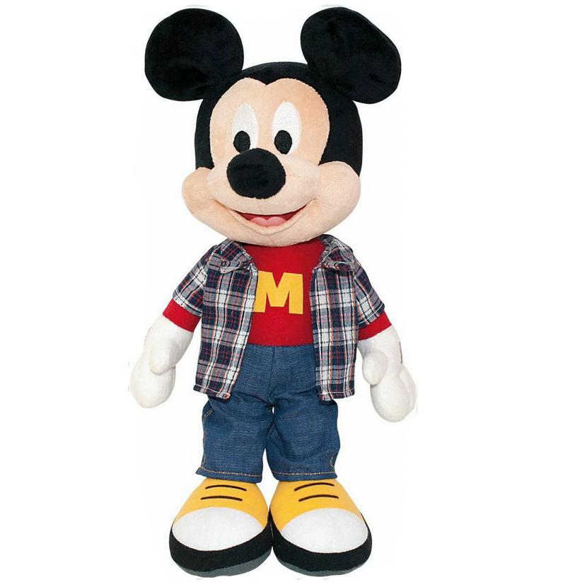Мягкая озвученная игрушка Микки Маус, 40 см самокат микки маус