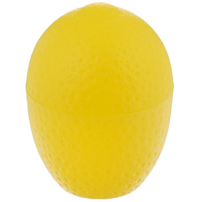 Контейнер для лимона Fackelmann, цвет: желтый47375Контейнер Fackelmann выполнен из цветного пластика в форме лимона. Контейнер предназначен для хранения нарезанных лимонов и лаймов.Контейнер для лимона Fackelmann станет незаменимым атрибутом на кухне каждой хозяйки.