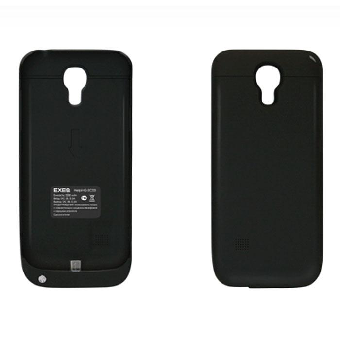 EXEQ HelpinG-SC03 чехол-аккумулятор для Samsung Galaxy S4 mini, Black (2200 мАч, клип-кейс)HelpinG-SC03 BLExeq HelpinG-SС03 – уникальное устройство, идеально сочетающее в себе надежный чехол и дополнительный аккумулятор емкостью в 2200 мАч для Samsung Galaxy S4 Mini. Как чехол устройство прекрасно защитит заднюю панель вашего смартфона от загрязнений, царапин и ударов. Как дополнительный аккумулятор HelpinG-SС03 обеспечит своевременную подзарядку вашему смартфону и продлит жизнь штатной батареи на часы дополнительного использования.Стильный и лаконичный дизайн чехла придется по вкусу многим пользователям смартфонов Samsung, а наличие в корпусе чехла всех необходимых отверстий под камеру, кнопки и разъемы позволит не снимать чехол длительное время. Зарядка чехла-аккумулятора происходит от зарядного устройства телефона, при этом аппарат из чехла доставать не нужно. Достаточно просто подсоединить зарядное устройство к чехлу и зарядка начнется автоматически. Для зарядки телефона необходимо подсоединить зарядное устройство к чехлу и нажать на кнопку питания на чехле.