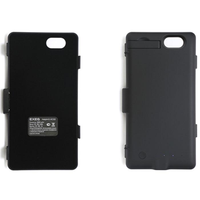 EXEQ HelpinG-XC02 чехол-аккумулятор для Sony Xperia Z1 Compact, Black (3300 мАч, клип-кейс)HelpinG-HX02 BLExeq HelpinG-XC02 – удобный чехол-аккумулятор для компактного смартфона Sony Xperia Z1 Compact. Специальнаяконструкция чехла позволит надежно защитить заднюю крышку смартфона, удобное боковое крепление позволитбыстро поместить смартфон в чехол, а встроенный аккумулятор емкостью в 3300 мАч обеспечит своевременнуюподзарядку батареи телефона. Благодаря компактным размерам и небольшому весу чехол-аккумулятор совсемнезначительно увеличивает габариты и вес смартфона.Зарядка аккумулятора чехла происходит от зарядного устройства смартфона и при этом смартфон необязательно извлекать из чехла. Достаточно просто подключить зарядное к чехлу и нажать на кнопку питания назадней поверхности чехла – и начнется зарядка телефона. Если кнопку питания не нажимать, то начнетсязарядка чехла-аккумулятора. Приятным дополнением HelpinG-XC02 также является наличие встроеннойподставки, которая сможет поддерживать ваш смартфон в горизонтальном положении, например, для общения поSkype, просмотра фильмов или чтения электронных книг.