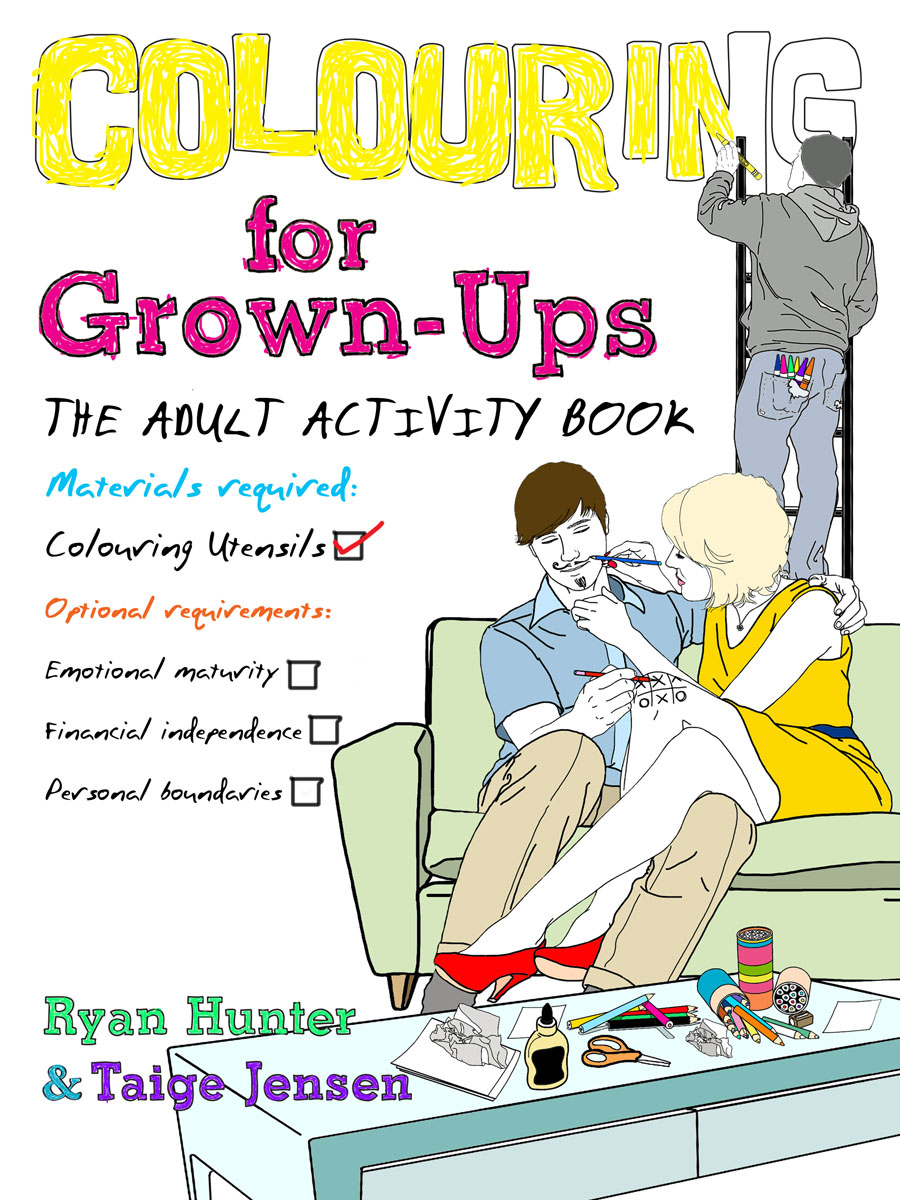 Colouring for Grown-ups back when we were grown ups